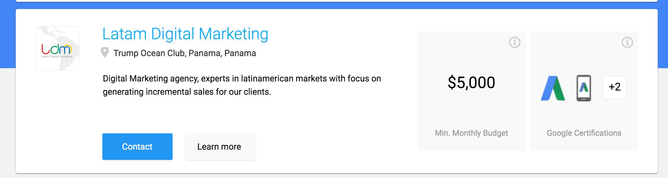 Google partner panama